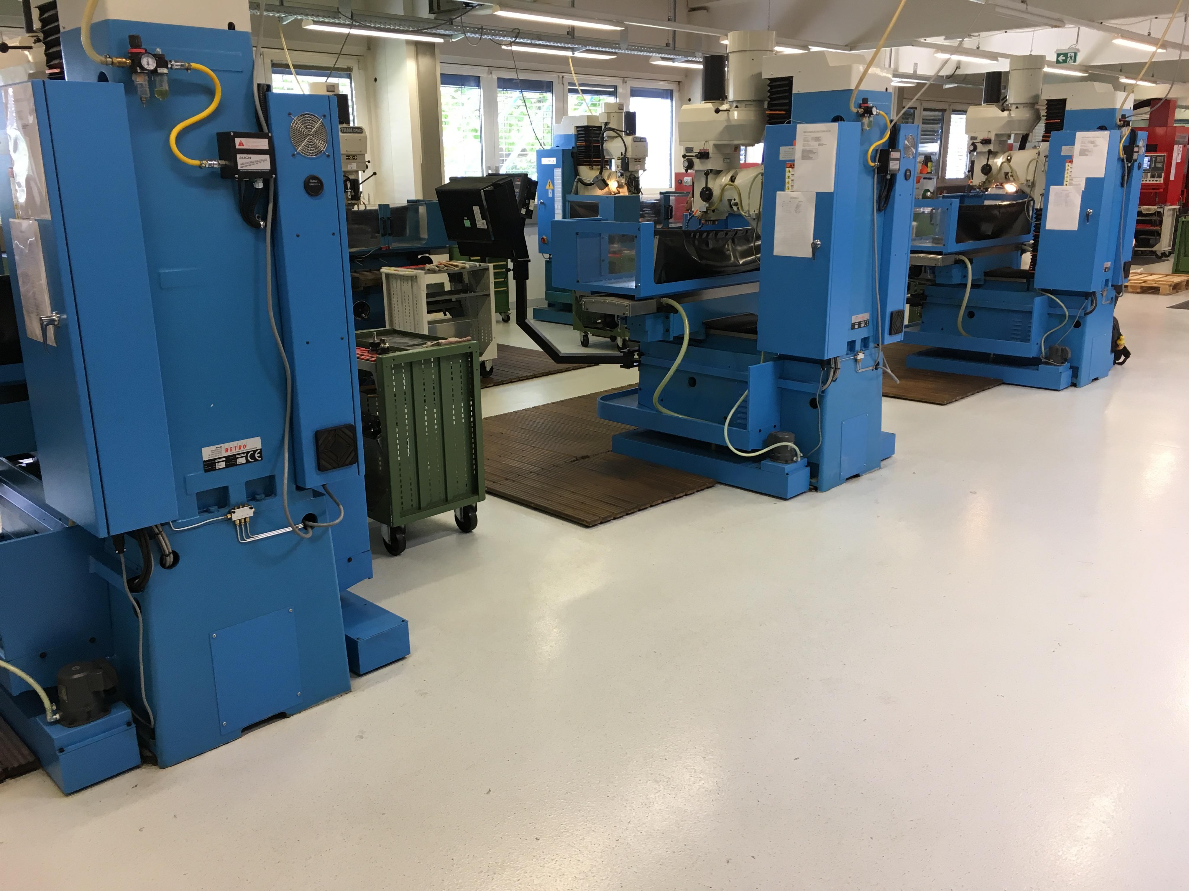Industrieboden mit Fußboden-Versiegelung